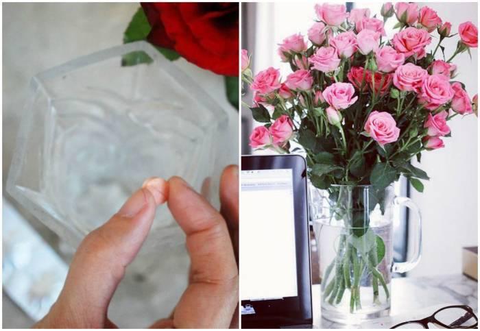 Как дольше сохранить розы в вазе